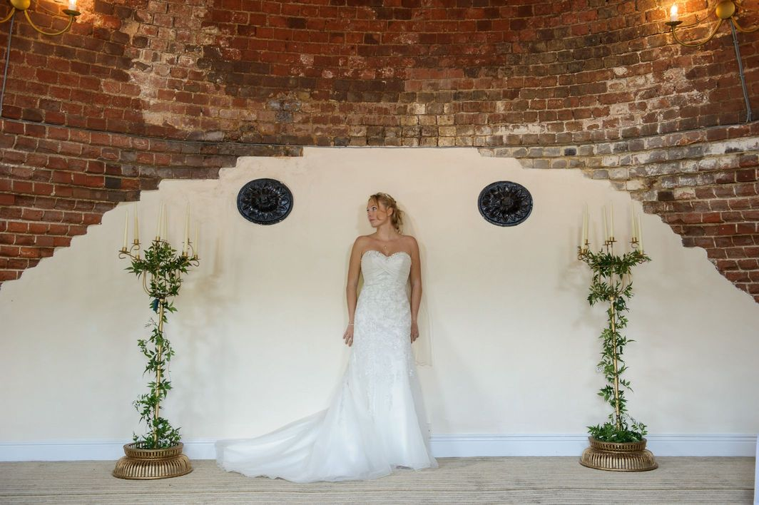 Bride in The Kiln Room