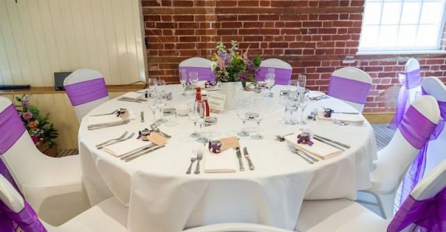 Bright Purple Wedding Décor