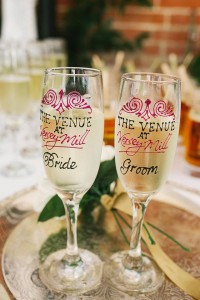 Bride and Groom Personalised Champagne Glasses