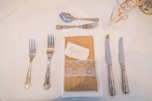 Groom Wedding Breakfast Place Setting