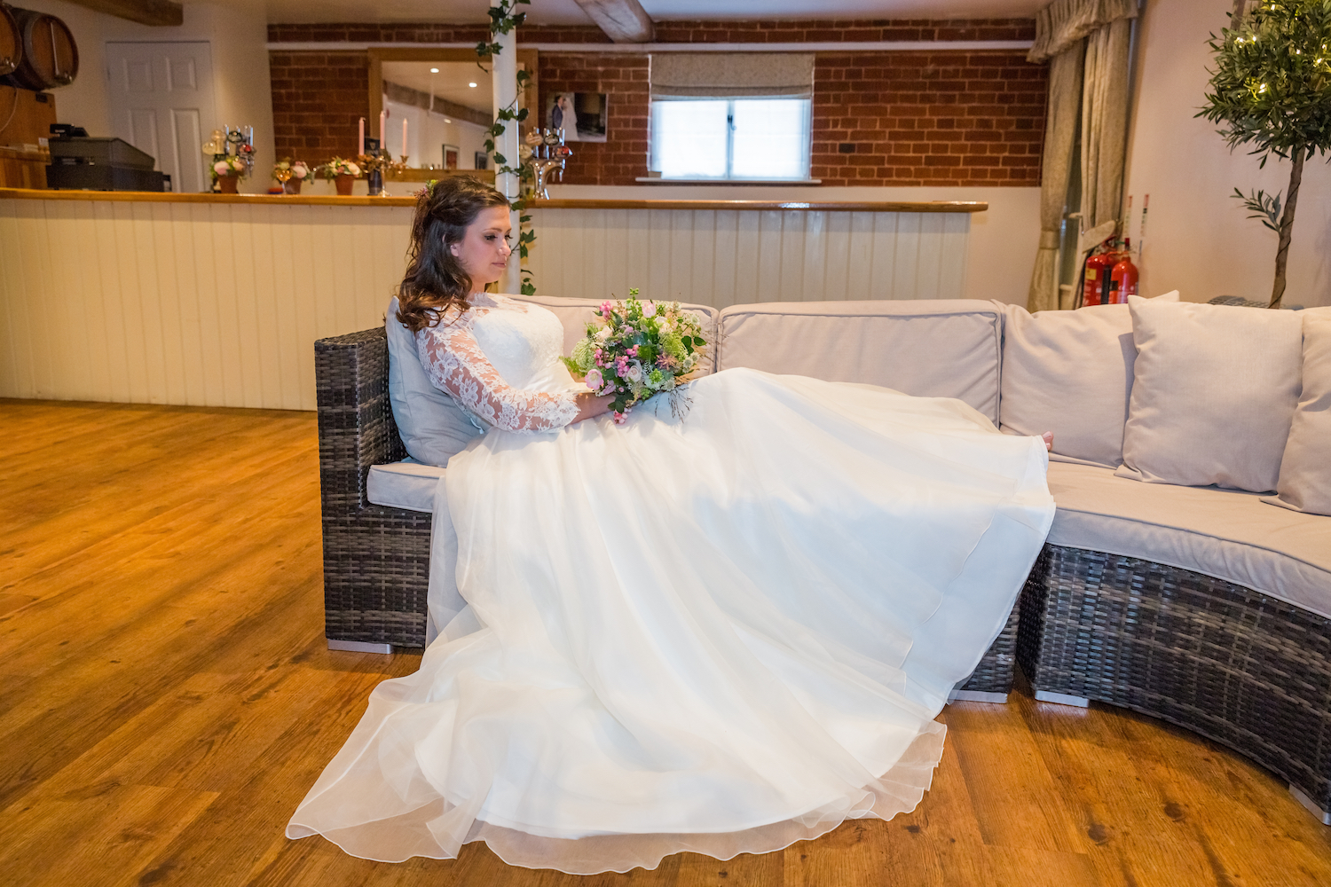 Bride Rests in The Gallery Bar