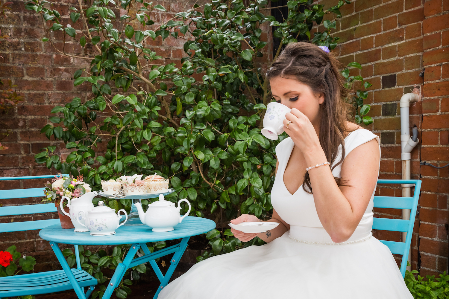 Bride with Cup of Tea