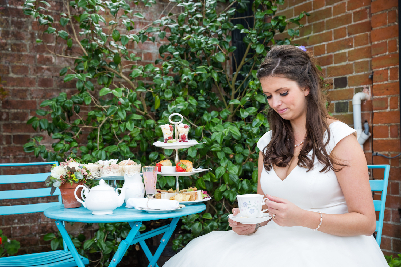 Vintage Style Cream Tea and Bride